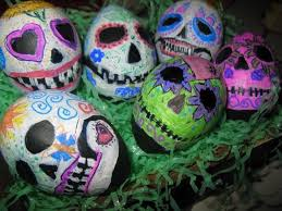 easter skull eggs